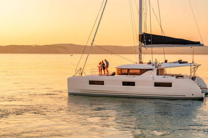 Split round trip on sailing yacht Lagoon 46